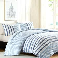 striped bed sets blue and white striped bedding set amazing blue and white  image of light . striped bed sets ...