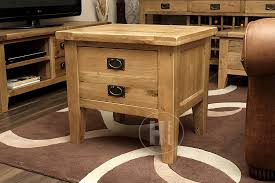 rustic light oak lamp table with drawers vancouver gaurantee