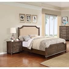Empire Bedroom Set   Nailhead, Rustic Oak   MYCO EM3800 BED SET ...