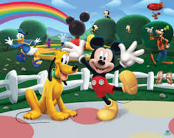 Mickey Mouse Bedroom Wallpaper Disney Mickey Mouse Club House By Walltastic Wallpaper Direct