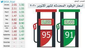 أرامكو تعلن أسعار البنزين الجديدة لشهر أكتوبر 2020 - ثقفني