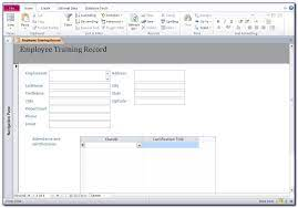Multiple training plan templates to edit online. Microsoft Access Employee Training Database Template Free Download Vincegray2014