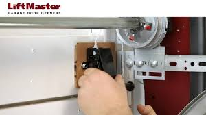 how to install the cable tension monitor on a liftmaster garage door opener model 8500