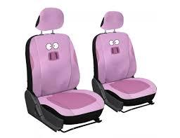 pink pig 6pc set printed animal emblem seat covers
