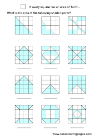 Area maths work sheets.