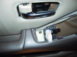 rx300 diy door lock actuator fix write up club lexus forums step 6 removal of the door handle really easy remove the small philips head screw under the plastic cover get your small flat head screwdriver again