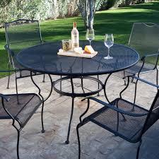 belham living stanton wrought iron dining set by woodard seats 4 com