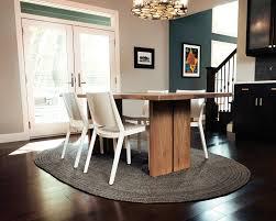 gray jute rug dining room