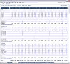 Simple Profit Loss Spreadsheet Form Free And Template For Self