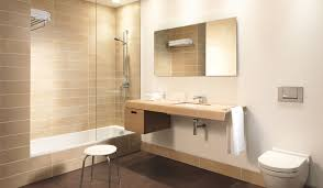 A design for a luxury ensuite hotel bathroom featuring Duravit ONTO  contemporary bathroom furniture and a frameless glass shower screen