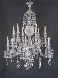 superb 12 branch antique crystal chandelier