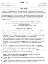 Teacher Candidate Resume It Resume Cover Letter Sample