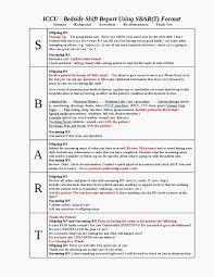 Nursing Shift Report Template Nursing Bedside Shift Report Template Luxury 28 Of Sbar Shift Report