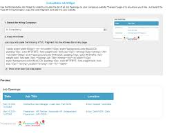 recruit4job jobs social recruiting job search applicant embeddable job widget