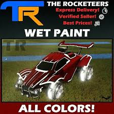 rocket league every painted wet paint