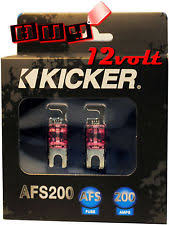 200 amp fuse kicker afs200 200 amp 2 pack platinum plated afs fuses color coded casing