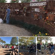 our las vegas team came together with their neighbors to create a healing garden and prayer wall to help their community heal by planting a tree to honor