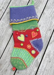 Quilted Christmas Stocking Patterns to Stitch and Stuff & Felted Crazy Quilt Stocking Adamdwight.com