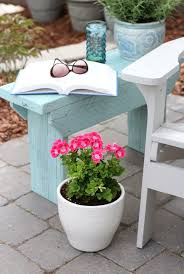 this distressed wood outdoor side table from satori designs for living is the perfect little table