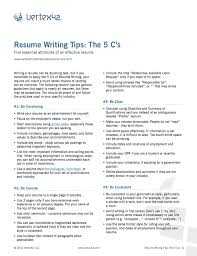 Free Resume Writing Tips Unique Tips For Writing A Resume