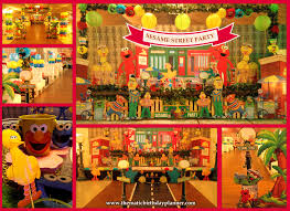 Sesame Street Bedroom Decorations Sesame Street 1st Birthday Party Ideas Theme Planner In Pakistan