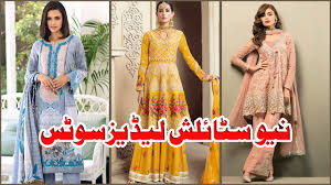 Plain Punjabi Suit With Lace Design New Lace Design Ideas Punjabi Suit 2019 Koshish Tu Kar