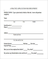 Employee Application Form Free Printable 49 Job Application Form Templates Free Premium Templates