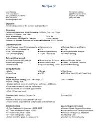 Science Resume Template Mesmerizing Science Resume Examples Good Science Resume Examples Best Sample