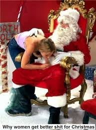 Mrs. clause giving santa a blowjob