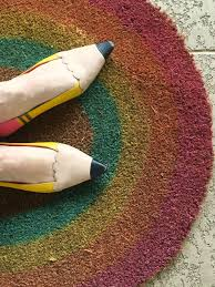 Greet Guests with an Easy DIY Rainbow Door Mat | Jennifer Perkins