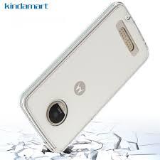 motorola z2 play case. kindamart phone case for moto z2 play hybrid protective thin hard ultra slim clear cover motorola