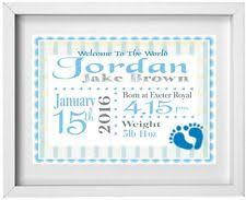 baby boys name personalised picture new baby gift free post