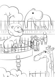 Small Picture Zoo Animals coloring page Free Printable Coloring Pages
