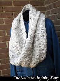 Knit Infinity Scarf Pattern Simple The Midtown Infinity Scarf Knitting Pattern On Luulla