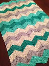 Chevron Blanket Pattern Knit