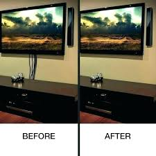 how to hide tv cables brick wall mount