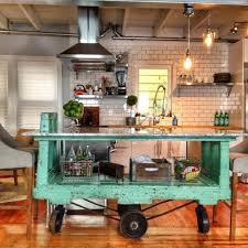 vintage factory cart movable green vintage island here is absolutely a great way to pop