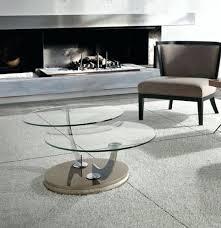 swivel coffee table porto lujo modern round glass swivel coffee table choice of base desire with