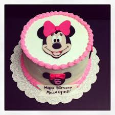 simple pink minnie mouse cake