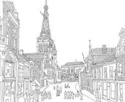 Kleurtum Tilburgs Kleurboek Voor Volwassen Stadsgezicht Tilburg