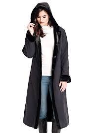 black reversible storm faux fur coat