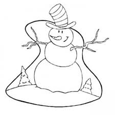 Small Picture Coloring Pages Winter Snowman With Big Hat Winter Coloring pages