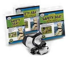 Four Paws Small Black Safety Seat Vest Dog Harness
