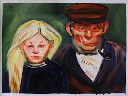old fisherman and his daughter munch oil painting replica