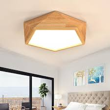 Japanese style lighting Vintage 2019 Japanese Style Modern Led Wood Ceiling Lights In Geometric Shape Lamparas De Techo For Bedroom Balcony Corridor Kitchen Lighting Fixtures From Ycx52013 Dhgate 2019 Japanese Style Modern Led Wood Ceiling Lights In Geometric