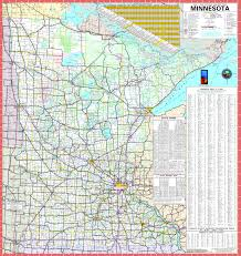 large detailed map of minnesota with cities and towns