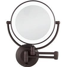 beauty makeup mirror in bronze ledw810