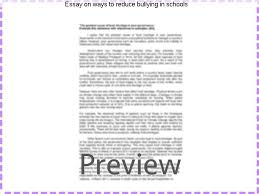 essay on ways to reduce bullying in schools term paper academic  essay on ways to reduce bullying in schools ways to reduce bullying in schools essays