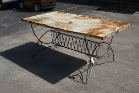 deco garden furniture. Incredible Metal Patina Dining Table. « Deco Garden Furniture