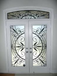 stained glass door inserts wrought iron glass door inserts stained glass door inserts aurora stained glass